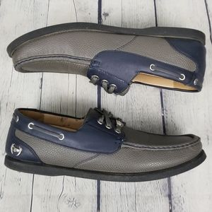 PHAT FARM | lace-up slip-on casual boat shoes